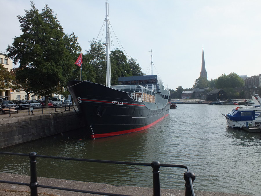 THEKLA IS A CARGO SHIP WHICH HOUSES A MUSIC VENUE OF THE SAME NAME